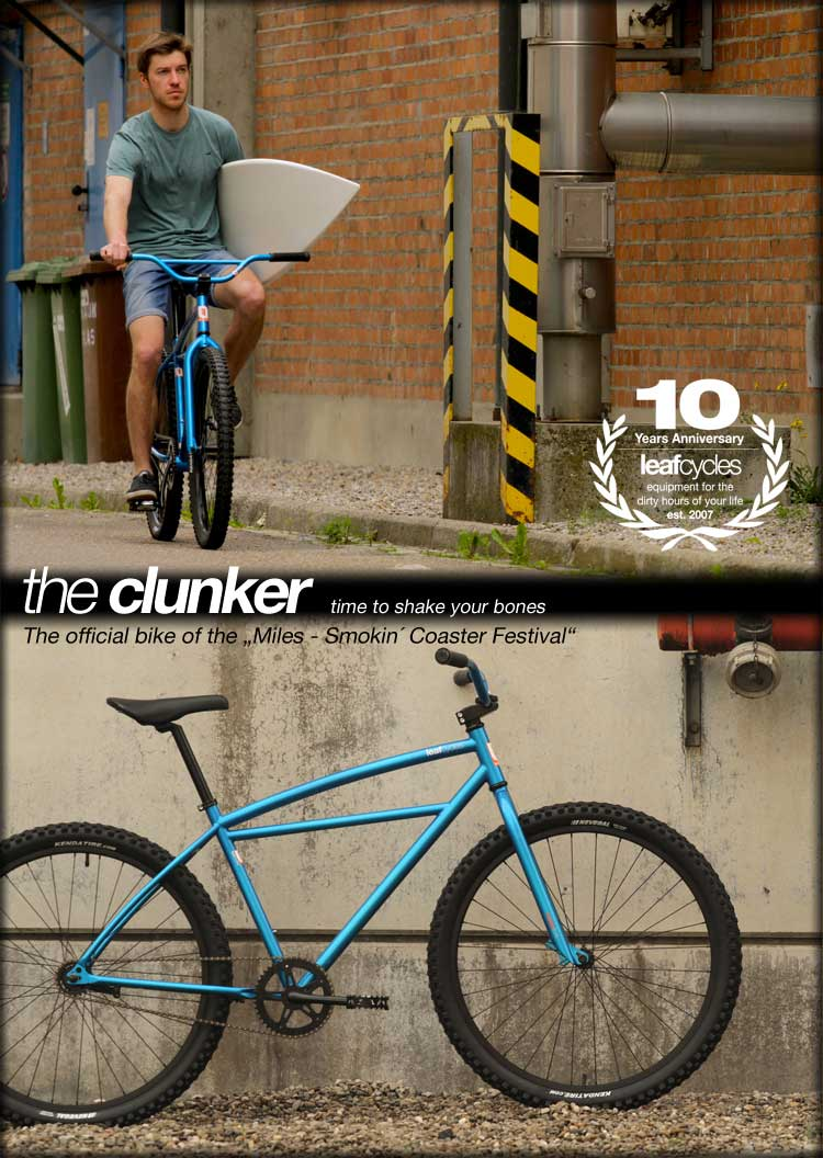 Leaf cycles Klunker Surfer blau
