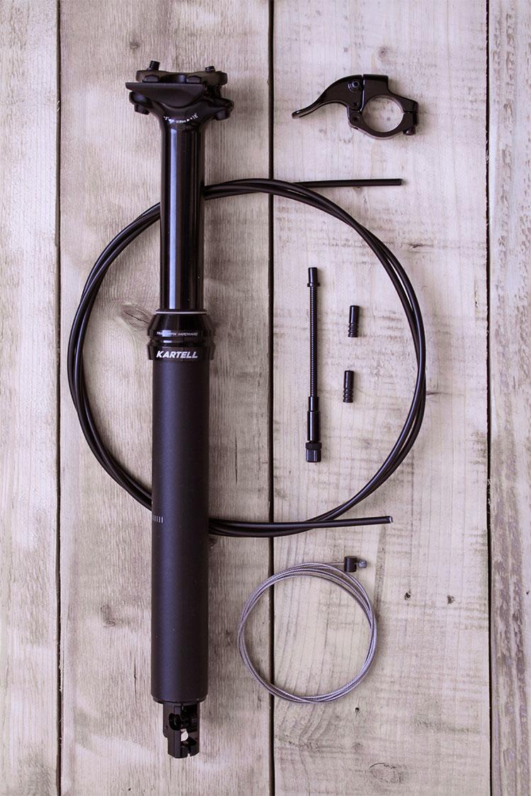 Kartell Teleskop Sattelstütze, schwarz